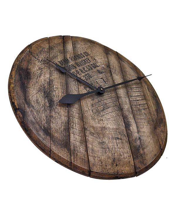 Bourbon Barrel Head Wall Clock