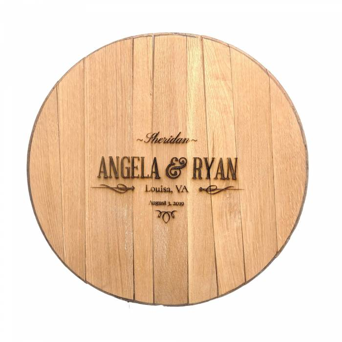 Bourbon Barrel Wedding Guestbook