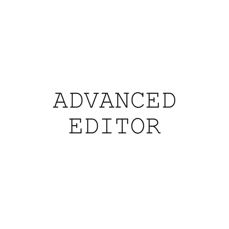 Use Advanced Editor