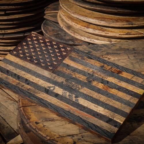 Bourbon Barrel American Flag